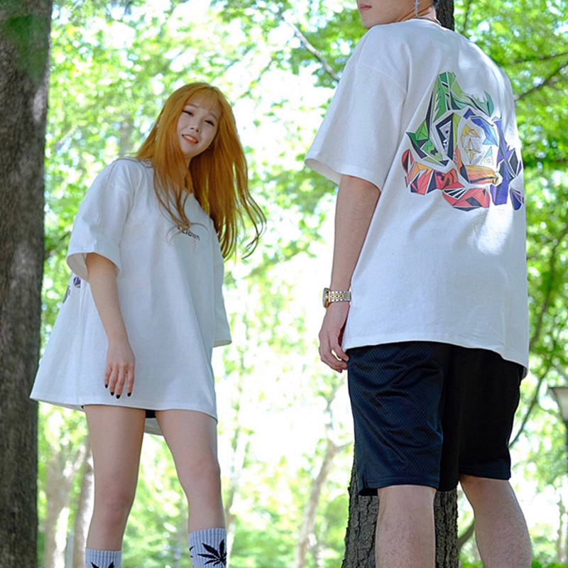 [A.Clown]Tropical Logo Half-Tee