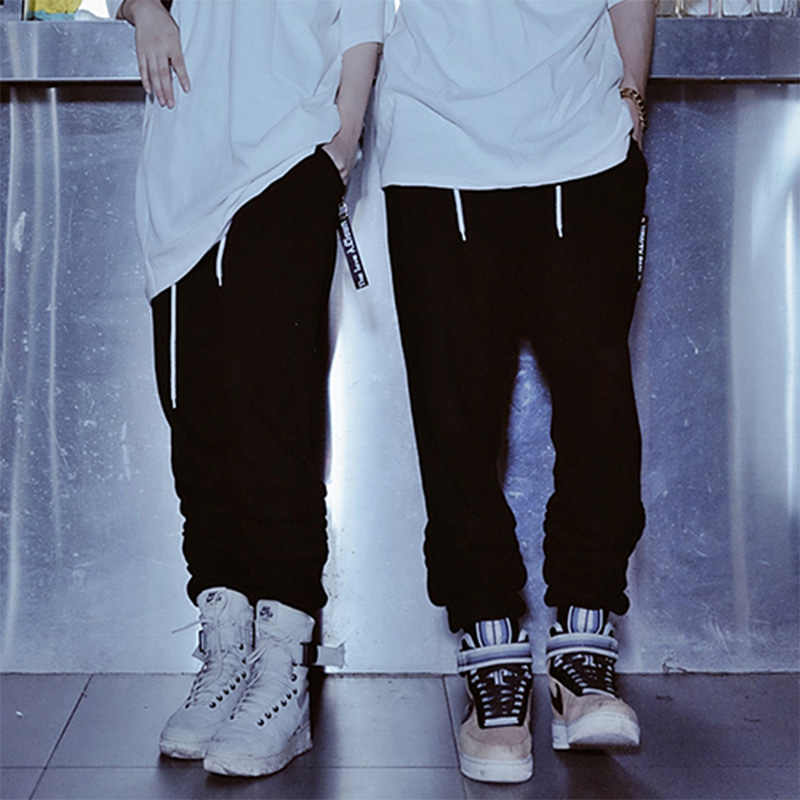 [A.Clown]Jogger Baggy Shirring Pants
