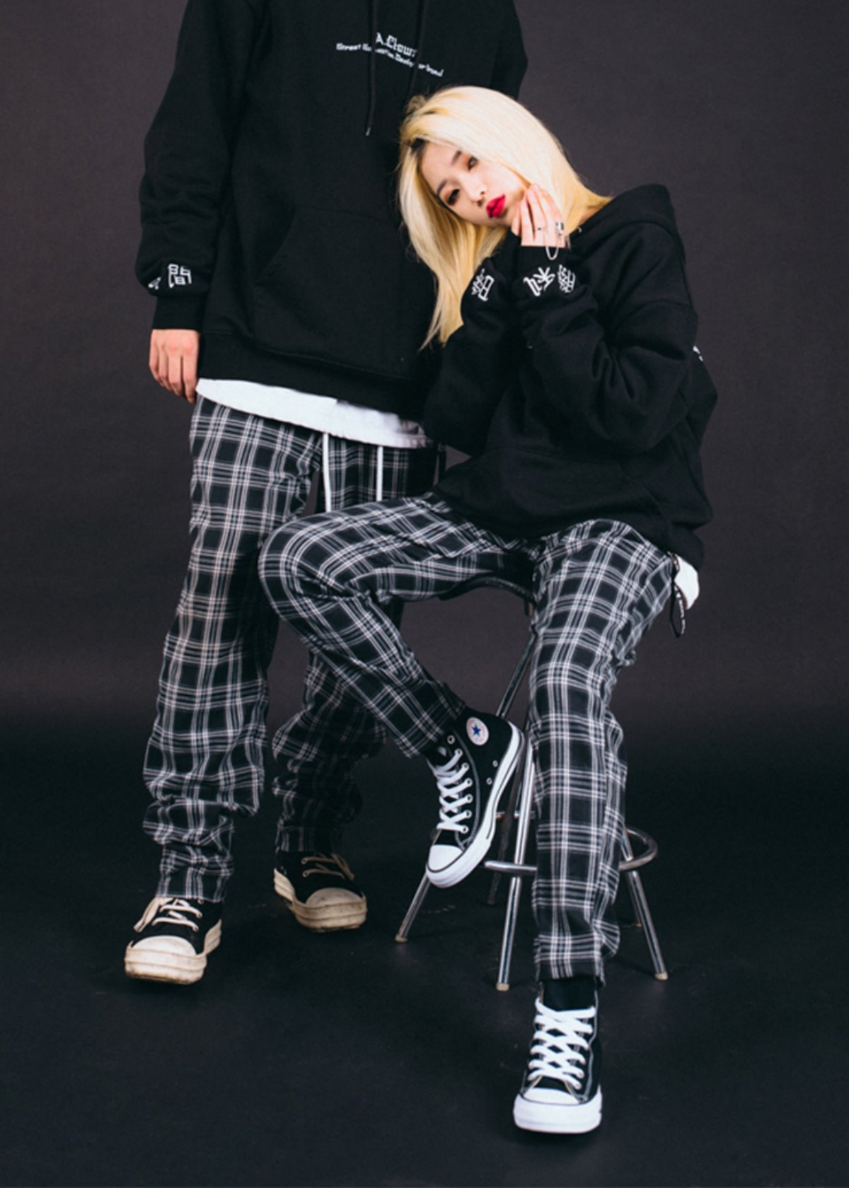 Side-Tag Flannel Pants