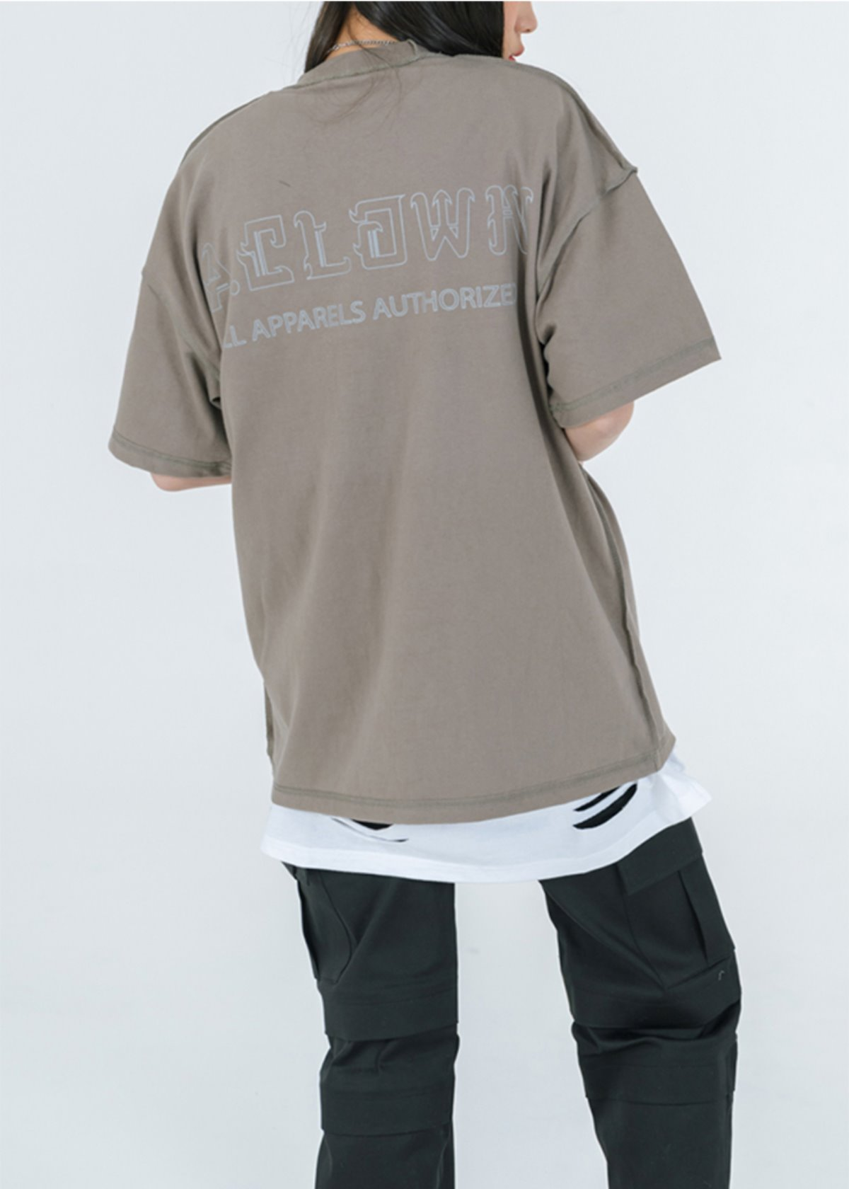 Reversed 3M Reflective Scotch Pocket Half-Tee OLIVE