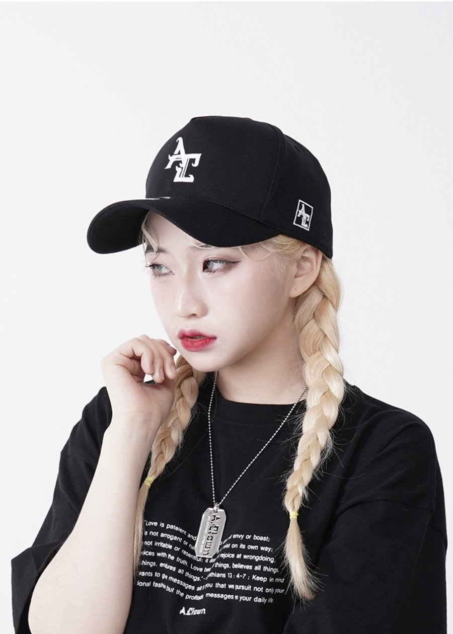 AC Logo Pinch Deep Ball-Cap BLACK