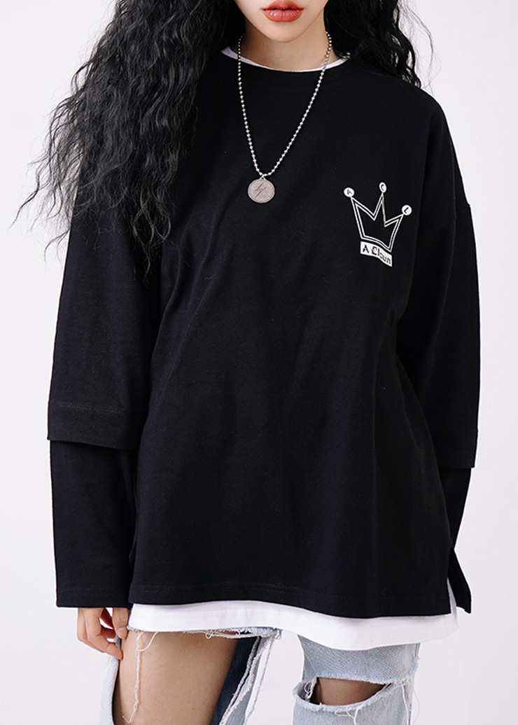 ACL Crown Big Logo Long-Sleeve BLACK