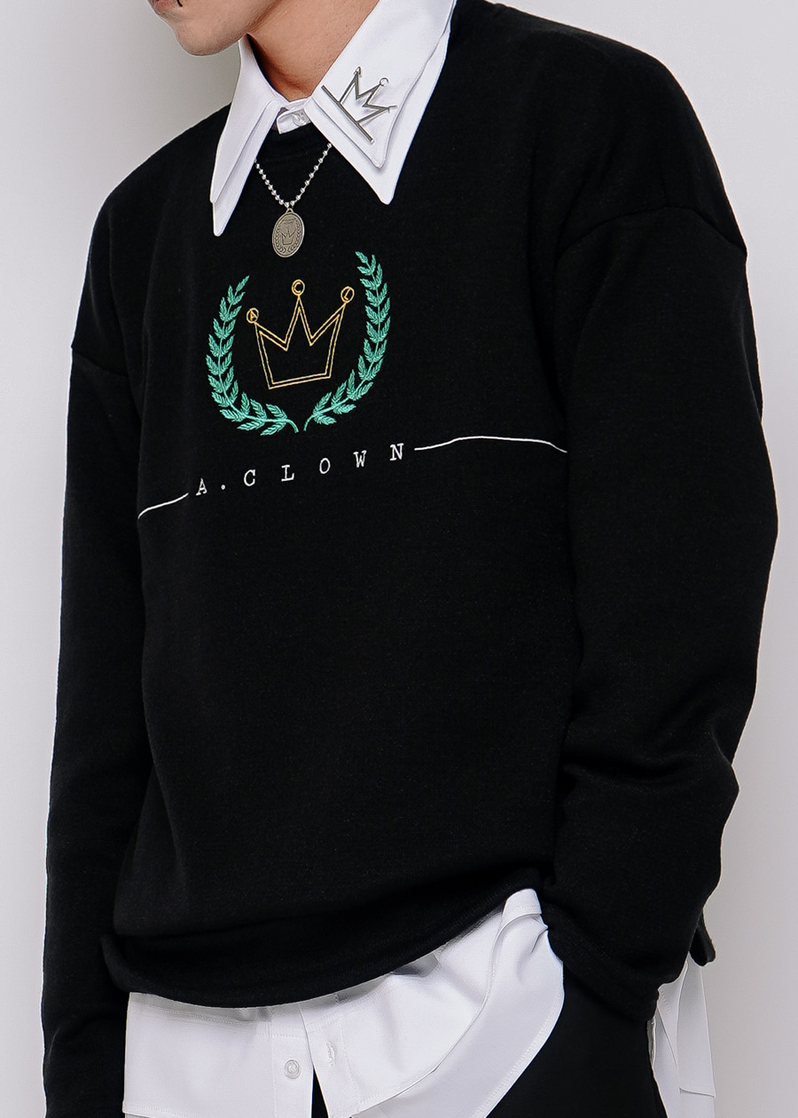 ACL Crown Logo Knitted MTM 블랙(BLACK) (올자수)