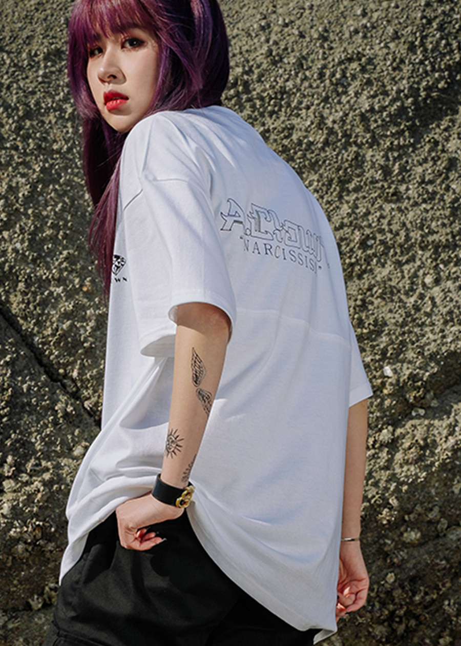 DIA.CLOWN HALF-TEE_WHITE
