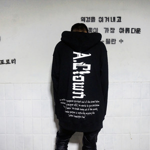 [A.Clown]Basic Logo Lettering Hood Zip-Up
