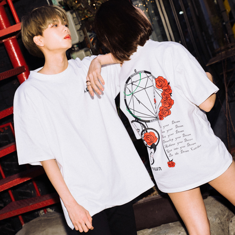 [A.Clown]Dream Catcher Half-Tee WHITE