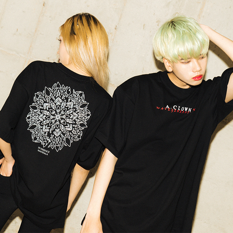 [한정][A.Clown]Wave Mandala Half-Tee