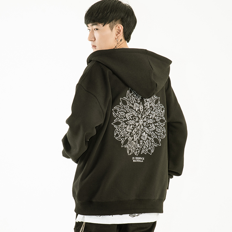 [20%Season OFF][A.Clown]Mandala Hoodie Zip-Up(블랙)(후드집업)(자수상품)