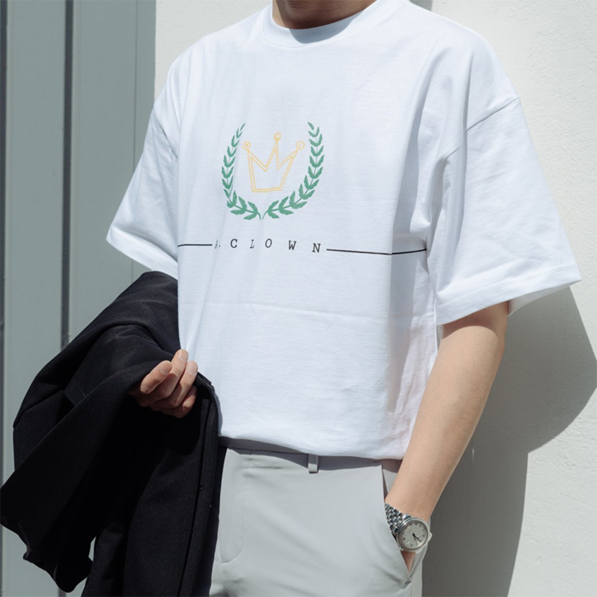 ACL Crown Logo Half-Tee WHITE