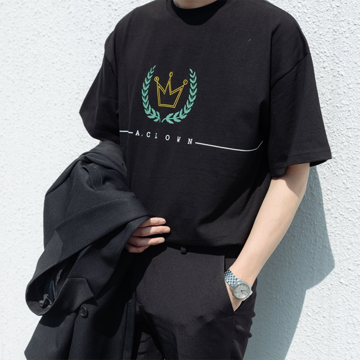 ACL Crown Logo Half-Tee BLACK