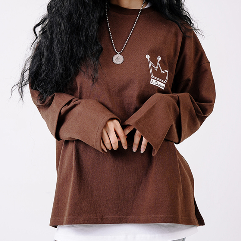 ACL Crown Big Logo Long-Sleeve BROWN