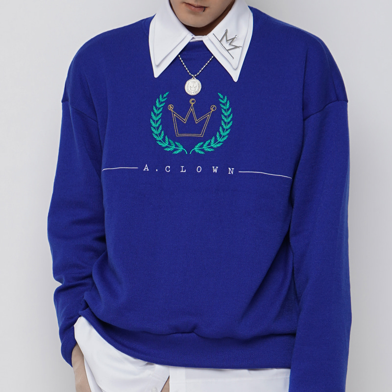 ACL Crown Logo Knitted MTM 블루(BLUE) (올자수)