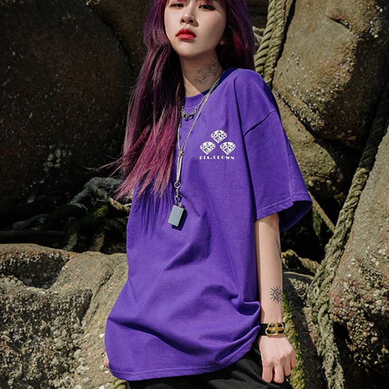 DIA.CLOWN HALF-TEE_PURPLE